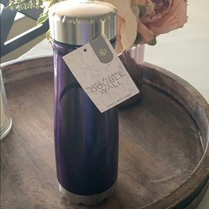 Purple double walled water bottle BPA free